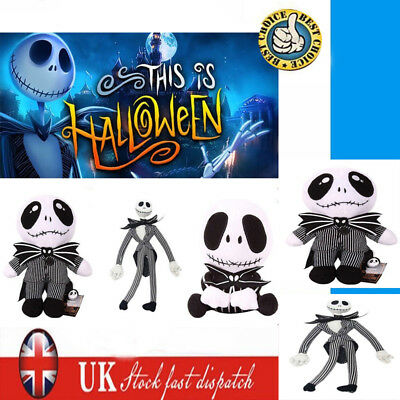 8/20'' The Nightmare Before Christmas Jack Skellington Plush Toy Xmas UK Stock