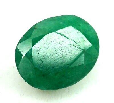 GGL Certified 4.00 Ct Natural Emerald Appealing Oval Looking Cut Gemstone