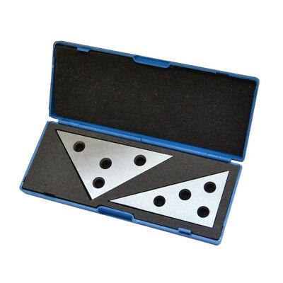 2pcs Precision Angle Plate Set with Four Holes for Easy Mounting