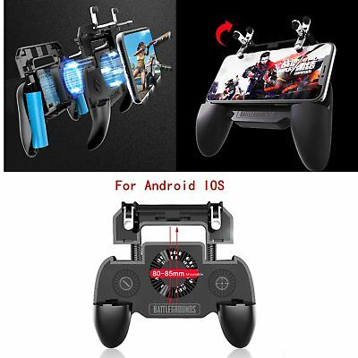 Mobile Game Gamepad Joystick Controller Grip Handle+Cooling Fan for IOS &Android