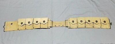 L.C.C.& CO US WWI Mounted Cavalry 1918 Canvas Ammo Belt Pouch Antique Original