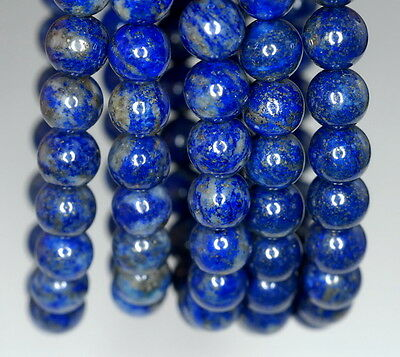 7Mm Lapis Lazuli Gemstone Grade A Blue Round 7Mm Loose Beads 7""