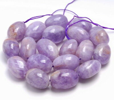 """16X12MM AMETHYST GEMSTONE PURPLE FACETED BICONE RECTANGLE LOOSE BEADS 7.5/"""""""