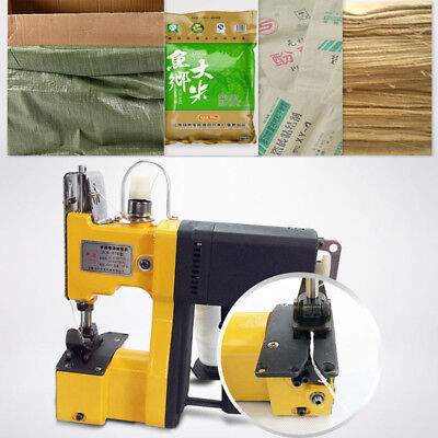 220V Portable Industrial Electric Bag Stitching Closer Seal Sewing Machine NEW