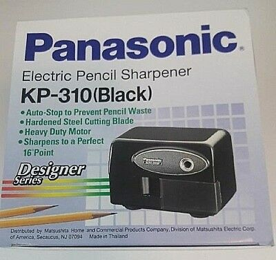Panasonic KP-310 Auto-Stop Electric Pencil Sharpener Black Brand New in Box