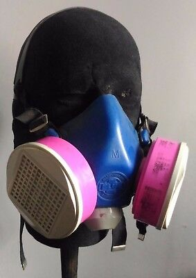 Survivair Blue 1 Half-Face Mask / Respirator w/ S-Series Cartridges / Filters