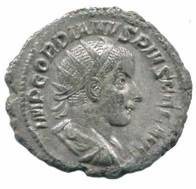 Gordian III AR Antoninianus Rome  AD 240 5th Officina VIRTVS AVG ANC13134.38