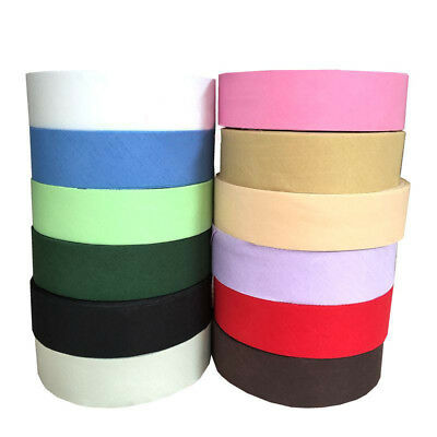 Cotton Bias Binding Tape 40mm (>25mm) Extra Wide 1 5/8 Inch 32 Colours Trim Edg