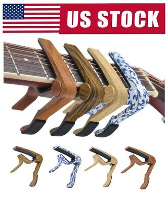 Guitar Quick Change Release Folk Electric Acoustic Guitar Capo Trigger Key Clamp