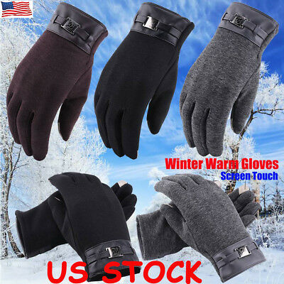 Men Women Thermal Insulation Touch Screen Winter Warm Gloves For Smartphone US