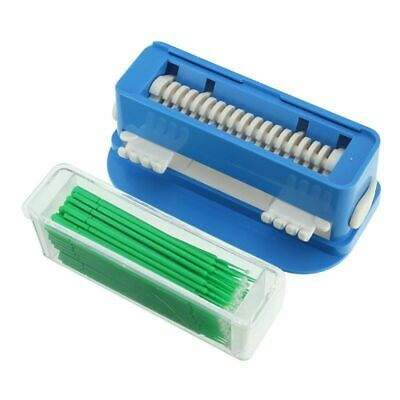 Dental 4 Sizes Disposable Micro Brush Applicators & Dispenser Holder Container