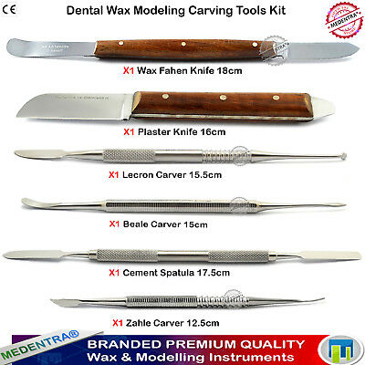 Dental Modelling Wax Tools Lab Carvers Carving Wax Plaster Alginate Knives 6PCS