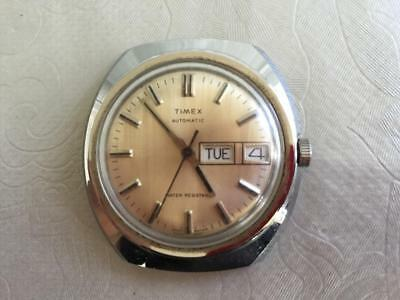Vintage TIMEX AUTOMATIC DAY DATE GENTS WRIST WATCH GREAT BRITAIN