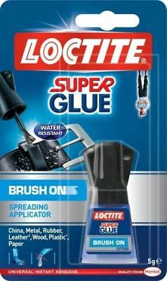 NEW Loctite Super Glue 5g Bottle with Easy Brush On Spreadable Applicator