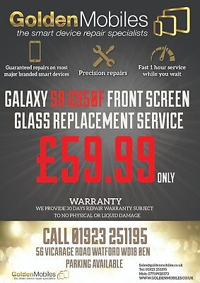 Samsung Galaxy S8 Cracked Front Lcd Screen Glass Replacement Repair Service