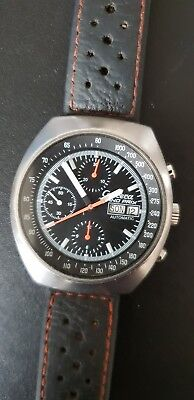 Massiver Vintage Carrera Grand Prix Valjoux 7750 Racing Chronograph