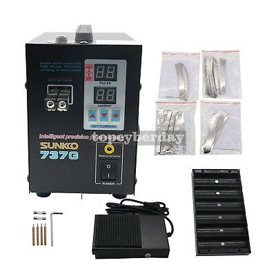 737G Spot Welder 220V 1.5KW Battery Spot Welding Machine LED Light for 18650