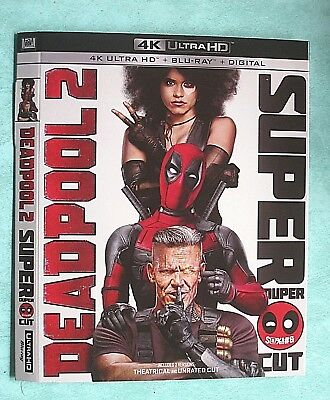 DEADPOOL 2, DIE HARD, DESPICABLE ME, DOWNSIZING, DUNKIRK ..4K Blu ray slipcover