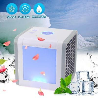Mini Air Cooler Cooling Humidifier Purifier Water Conditioner Fan Rechargeable