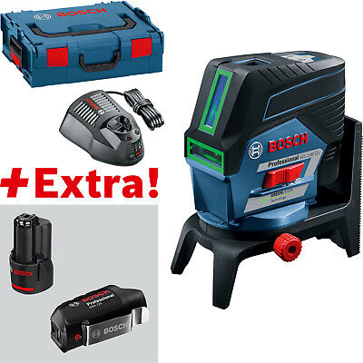 Bosch Punkt- and Line Laser Gcl 2-50 CG with 2 x 2,0 Ah Battery, USB Adapter,
