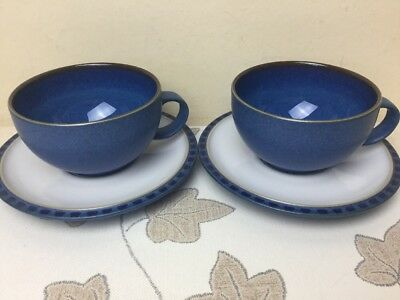 Denby Reflex 2 x Cups & Saucers New Unused Mint Condition