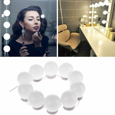 Hollywood Mirror LED Light Makeup Dressing with 10 Bulb Dimmer Christmas Gift AU