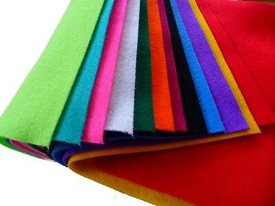 Felt Sheets A4 Assorted Colours Pack 12 - 30 x 23cm Felt Craft Sewing