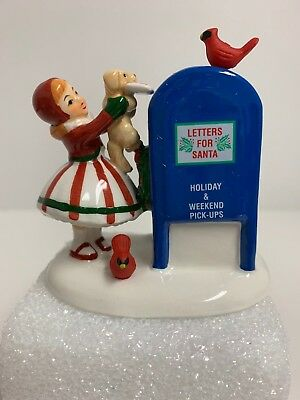 Department 56 NEW HTF Letters to Santa, Snow Village 40th Anniversary FREE SHIP