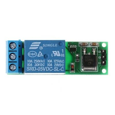 1PC 6-24V Flip-Flop Latch Relay Bistable Self-locking Low Pulse Trigger Module