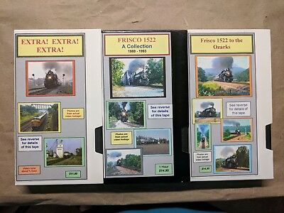 Frisco Railroad 1522 3 VHS Tapes Roger Holmes