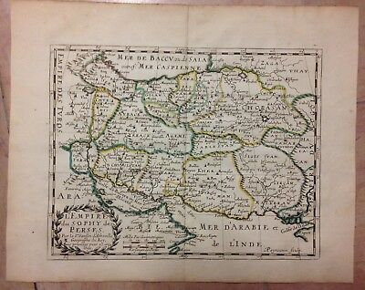 Persia Iran Dated 1652 Nicolas Sanson Unusual Nice Antique Engraved Map