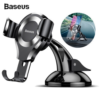 Baseus Gravity Car Phone Holder Suction Cup Mount Car Holder Stand for Universal