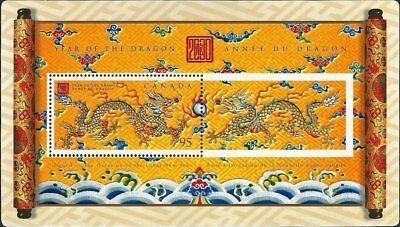 🍁 Canada Stamps Year of the Dragon Souvenir Sheet year 2000 Lunar New MNH #183