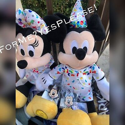 RARE DISNEY MOG WDI MICKEY & MINNIE 90th BIRTHDAY EXCLUSIVE PLUSH & PINS