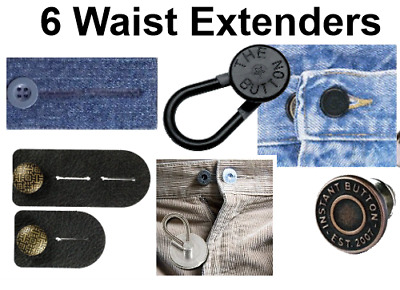 6 Pant Button Waist Expander Button - Ideal for Women and Men  Save