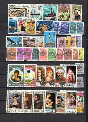 Uae - Collection Of Postally Used Of Stamps Lot (Dub 101)