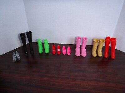 Mixed Different Shoes Boots for Barbie Doll Lot of 8