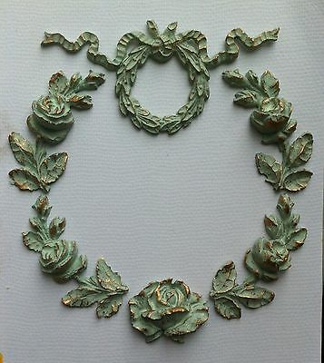 Set of six mouldings wreath design shabby chic project furniture embellishment