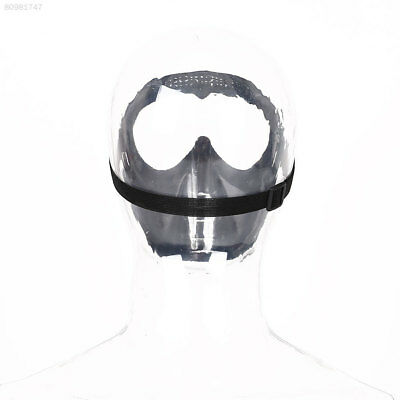 D0A6 Protective Airsoft Paintball Game Tactical Black Clear Lens Helmet Mask