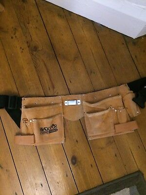 Blackspur Leather/suede tool belt Double Never Used But Dirty - read details