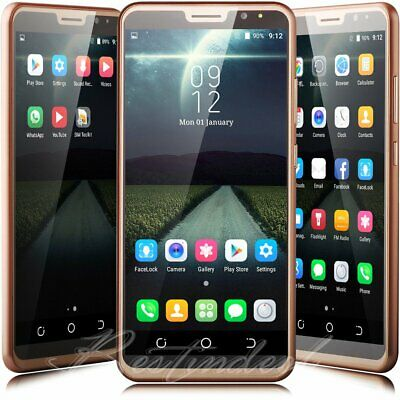 """6.0"""" Quad Core Dual Sim Unlocked AT&T Android 7.0 Smart Cell Phone Straight Talk"""