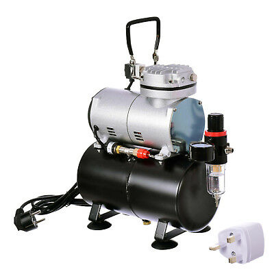 Professional Airbrush Compressor With 3L Tank Air Filter and Regulator Kit