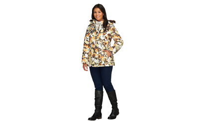 Dennis Basso Printed Puffer Jacket with Hood pick size color new