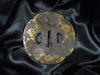 17/18th C. BEAUTIFUL BIG AIZU SHOAMI TSUBA SIGNED + NBTHK  Japanese Sword Kozuka