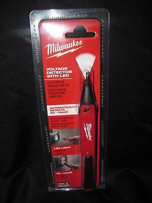 NEW Milwaukee voltage dectector with led #2202-20
