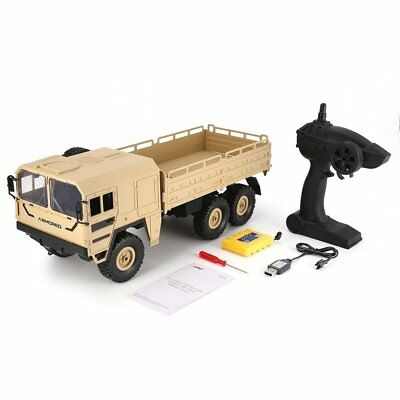 JJRC Q64 1/16 2.4G 6WD Rc Car Military Truck Off-road Rock Crawler RTR Toy Fu