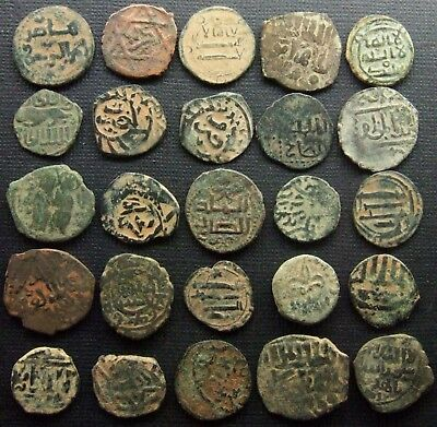 ISLAMIC Ancient and Medieval Lot of 25 Bronze and copper coins Various dynasties