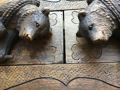 Black Forest Hiking Bear bookends.