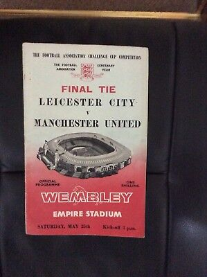 Leicester City v Manchester United programme,1963 FA Cup Final.