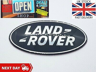 Land Rover Front Grill Rear Black Badge Tailgate Emblem Sticker 105X54mm